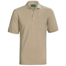 Outer Banks Ultimate Cotton Polo Shirt - Pocket, Short Sleeve (For Men) in Putty - Closeouts
