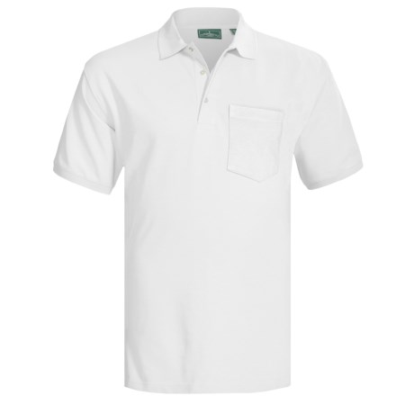 Outer Banks Ultimate Cotton Polo Shirt - Pocket, Short Sleeve (For Men) in White
