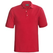 Outer Banks Ultimate Cotton Polo Shirt - Short Sleeve (For Tall Men) in Bright Red - Closeouts
