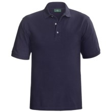 Outer Banks Ultimate Cotton Polo Shirt - Short Sleeve (For Tall Men) in Navy - Closeouts