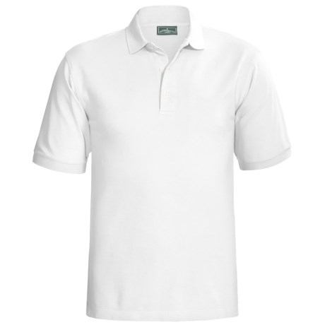 Outer Banks Ultimate Cotton Polo Shirt - Short Sleeve (For Tall Men) in White