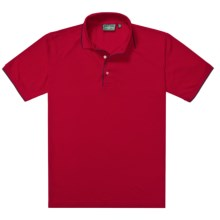 Outer Banks Ultimate Fashion Polo Shirt - No-Curl Collar, Short Sleeve (For Men) in Bright Red/Navy - Closeouts