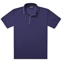 Outer Banks Ultimate Fashion Polo Shirt - No-Curl Collar, Short Sleeve (For Men) in Navy/Bimini Blue - Closeouts