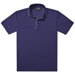 Outer Banks Ultimate Fashion Polo Shirt - No-Curl Collar, Short Sleeve (For Men) in White/Navy