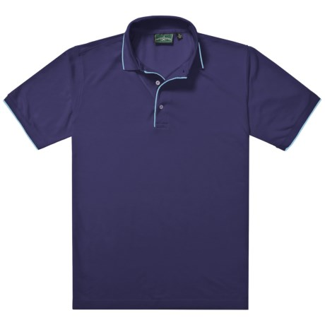 Outer Banks Ultimate Fashion Polo Shirt - No-Curl Collar, Short Sleeve (For Men) in Bright Red/Navy