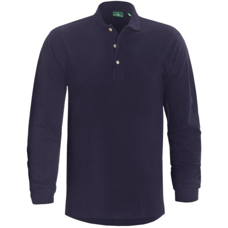 Outer Banks Ultimate Performance Polo Shirt - Long Sleeve (For Men) in Navy