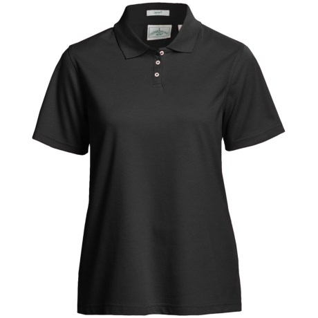 Outer Banks Ultimate Performance Polo Shirt - Moisture Wicking, Short Sleeve (For Women) in Black