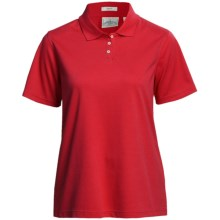 Outer Banks Ultimate Performance Polo Shirt - Moisture Wicking, Short Sleeve (For Women) in Bright Red - Closeouts
