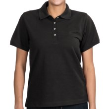 Outer Banks Ultimate Polo Shirt - Cotton Pique, Short Sleeve (For Women) in Black - Closeouts