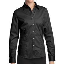 Outer Banks Ultimate Wrinkle-Resistant Dress Shirt - Cotton Twill, Long Sleeve (For Women) in Black - Closeouts