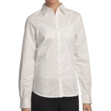 Outer Banks Ultimate Wrinkle-Resistant Dress Shirt - Cotton Twill, Long Sleeve (For Women) in Cream - Closeouts