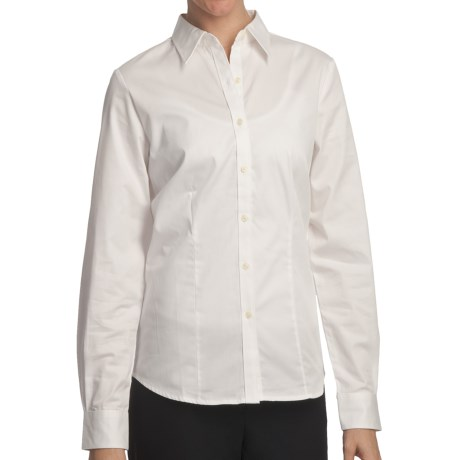 Outer Banks Ultimate Wrinkle-Resistant Dress Shirt - Cotton Twill, Long Sleeve (For Women) in White