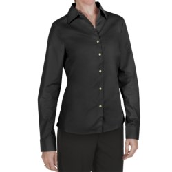 Outer Banks Ultimate Wrinkle-Resistant Dress Shirt - Stretch Cotton Poplin, Long Sleeve (For Women) in Black