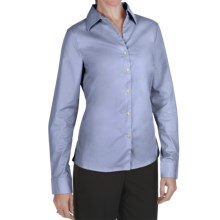 Outer Banks Ultimate Wrinkle-Resistant Dress Shirt - Stretch Cotton Poplin, Long Sleeve (For Women) in Blue - Closeouts