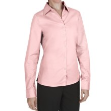 Outer Banks Ultimate Wrinkle-Resistant Dress Shirt - Stretch Cotton Poplin, Long Sleeve (For Women) in Shell Pink - Closeouts