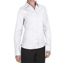 Outer Banks Ultimate Wrinkle-Resistant Dress Shirt - Stretch Cotton Poplin, Long Sleeve (For Women) in White - Closeouts