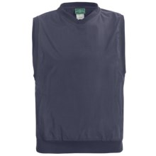 Outer Banks Windvest - V-Neck (For Men and Women) in Navy/Pine Green - Closeouts