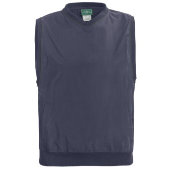 Outer Banks Windvest - V-Neck (For Men and Women) in Navy/Pine Green