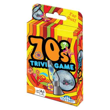 Outset Media 70's Trivia Card Game in Multi - Closeouts