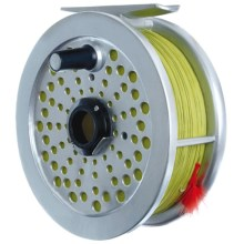 Outside Inside Fly Reel Birdhouse in Silver/Yellow - Closeouts