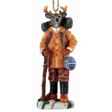 Outside Inside Gifts Gentleman Buck Ornament in Hiking - Closeouts