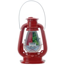 Outside Inside Gifts Hurricane Lantern Photo Frame in Red - Closeouts