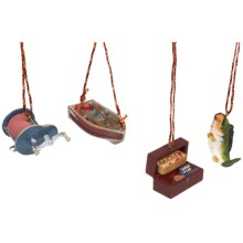 Outside Inside Gifts Sportsman's Ornament Set in Cast Fishing - Closeouts
