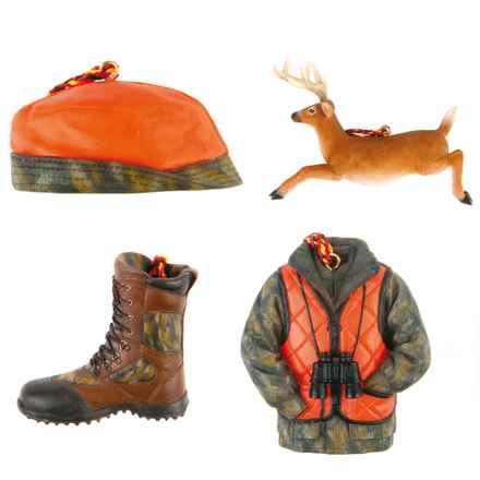 Outside Inside Gifts Sportsman's Ornament Set in Deer Hunter - Closeouts
