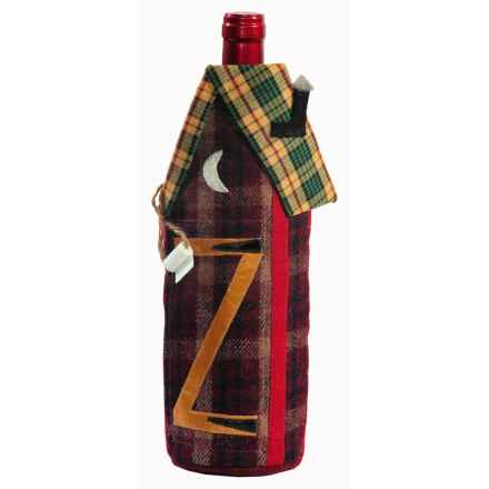 Outside Inside Outhouse Wine Bottle Cover in See Photo - Closeouts