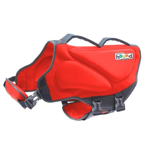 Outward Hound Dawson Swim Dog Life Jacket - Extra Large in Red