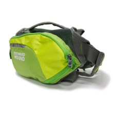 Outward Hound Dog Backpack - Small in Green - Closeouts