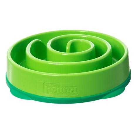 Outward Hound Fun Feeder Mini Dog Bowl in Green
