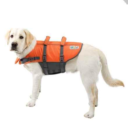 Outward Hound Granby Splash Dog Life Jacket - Large in Orange - Closeouts
