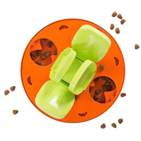 Outward Hound Paw Flapper Dog Puzzle in Orange/Green