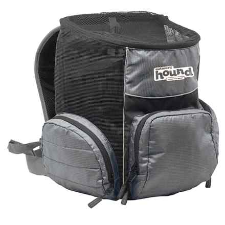 Outward Hound Poochpouch Backpack in Black - Closeouts
