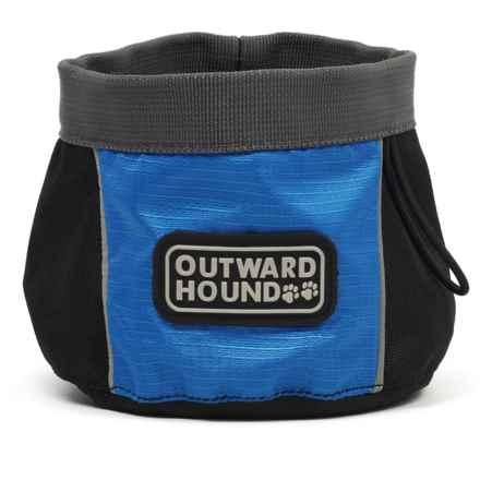 Outward Hound Port-A-Bowl Dog Bowl - Medium in Blue - Closeouts