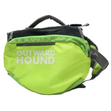 Outward Hound Quick-Release Dog Backpack - Large in Green - Closeouts