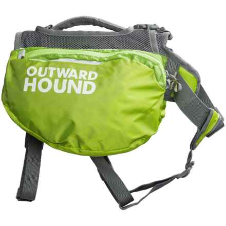 Outward Hound Quick-Release Dog Pack - Medium in Green - Closeouts