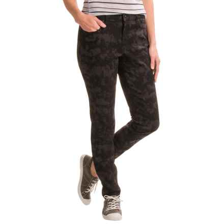 Over-Dyed Stretch Skinny Jeans (For Women) in Black Print - 2nds