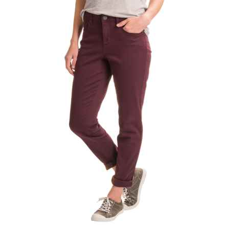 Over-Dyed Stretch Skinny Jeans (For Women) in Burgundy - 2nds