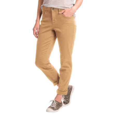 Over-Dyed Stretch Skinny Jeans (For Women) in Goldenrod - 2nds