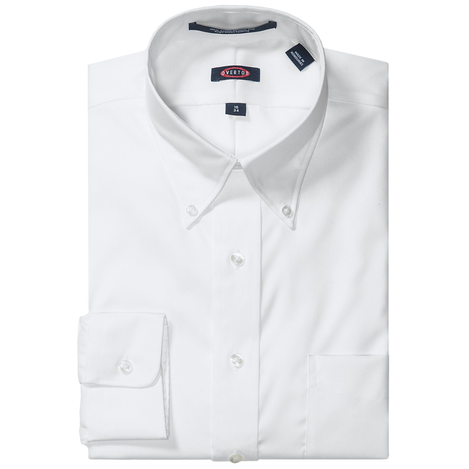 Overton wrinkle free pinpoint cotton shirt button down for Wrinkle free button down shirts