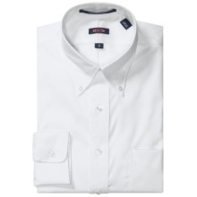 Overton Wrinkle-Free Pinpoint Cotton Shirt - Button-Down Collar, Long Sleeve (For Men) in White - Closeouts