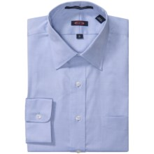 Overton Wrinkle-Free Pinpoint Cotton Shirt - Long Sleeve (For Men) in Blue - Closeouts