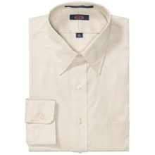 Overton Wrinkle-Free Pinpoint Cotton Shirt - Long Sleeve (For Men) in Ecru - Closeouts