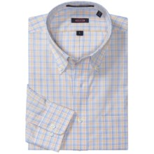 Overton Wrinkle-Free Plaid Sport Shirt - Long Sleeve (For Men) in Citrus - Closeouts