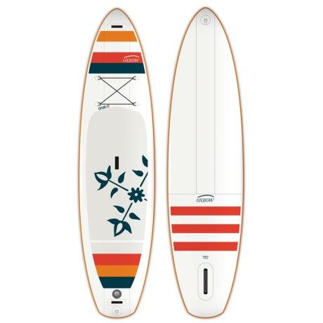 Oxbow Explore Stand-Up Paddle Board - 11' in White/Red/Blue