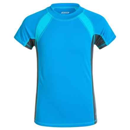 Oxide Mesh Rash Guard - UPF 50, Short Sleeve (For Big Boys) in Atomic Blue - Closeouts