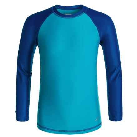 Oxide Rash Guard - UPF 50, Long Sleeve (For Big Boys) in Atomic Blue - Closeouts