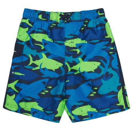 Oxide Sharks Boardshorts - UPF 50 (For Toddlers and Little Boys) in Blue